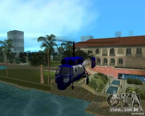 Ka-27 para GTA Vice City vista traseira esquerda