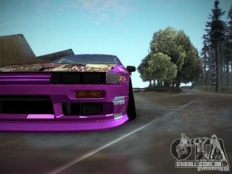 Nissan Silvia S13 Team Burst para GTA San Andreas vista traseira