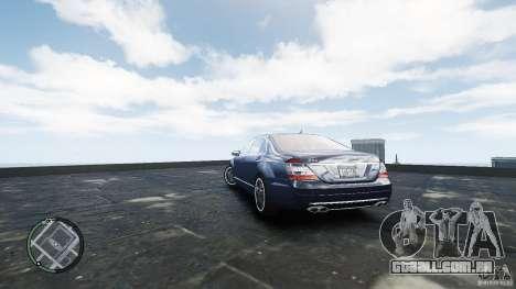 Mercedes-Benz S65 AMG para GTA 4 traseira esquerda vista
