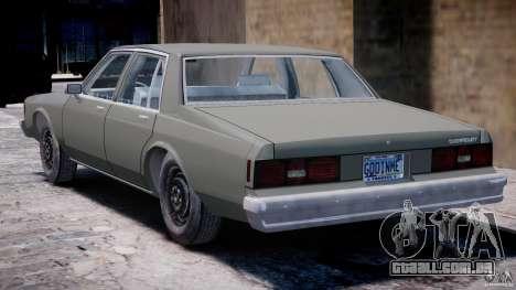 Chevrolet Impala 1983 [Final] para GTA 4 vista direita