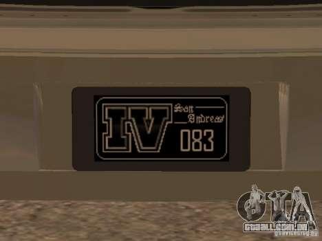 Chavos de Gta 4 para GTA San Andreas vista traseira