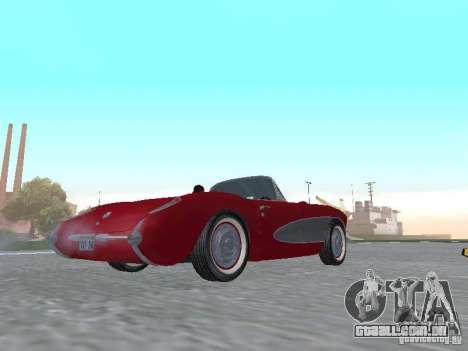 Chevrolet Corvette C1 para GTA San Andreas traseira esquerda vista