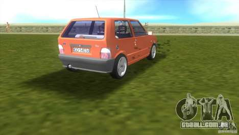 Fiat Uno para GTA Vice City vista direita