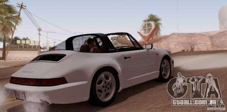Porsche 911 Carrera 4 Targa (964) 1989 para GTA San Andreas vista direita