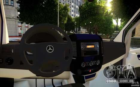 Mercedes-Benz Sprinter Passenger para GTA 4 motor