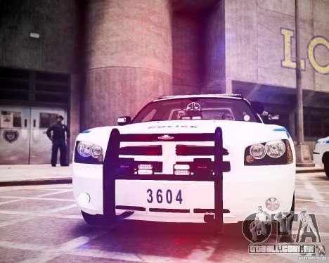 Dodge Charger 2010 NYPD ELS para GTA 4 vista lateral