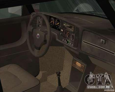 Saab 900 Turbo 1989 v.1.2 para GTA San Andreas interior