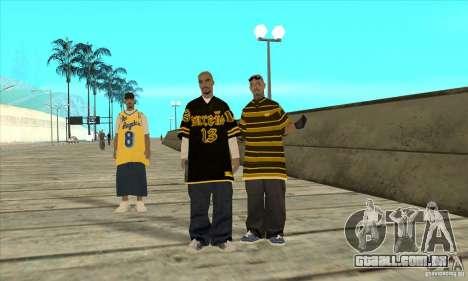 Substituir todos os skins Los Santos Vagos Gang para GTA San Andreas