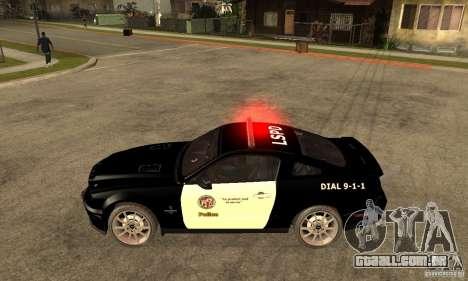 Shelby GT500KR Edition POLICE para GTA San Andreas esquerda vista