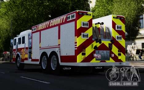 Pierce Heavy Rescue Pumper V1.4 para GTA 4 traseira esquerda vista