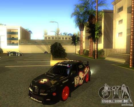 Subaru Impreza Colin McRae para GTA San Andreas esquerda vista
