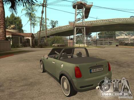 Mini Cooper S Cabrio para GTA San Andreas vista direita