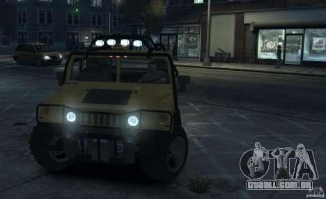 Hummer H1 4x4 Extras para GTA 4 esquerda vista