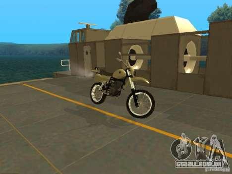 Čezet da motocicleta para GTA San Andreas esquerda vista