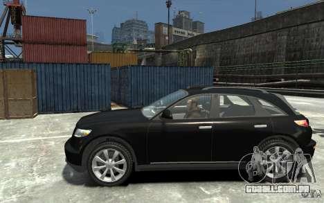 Infiniti FX45 para GTA 4 esquerda vista