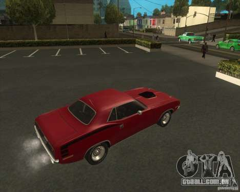 Plymouth Hemi Cuda 440 1970 do NFS PS para GTA San Andreas traseira esquerda vista
