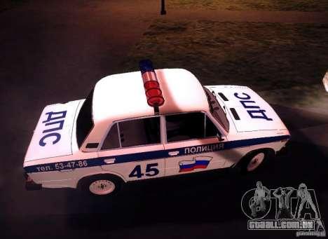 VAZ 2106 polícia v 2.0 para GTA San Andreas vista interior