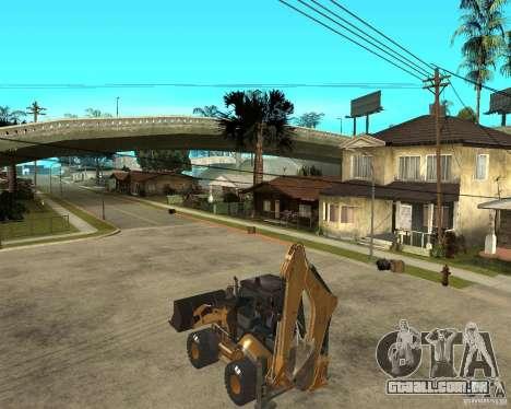 Lastik Tekerli Dozer para GTA San Andreas esquerda vista