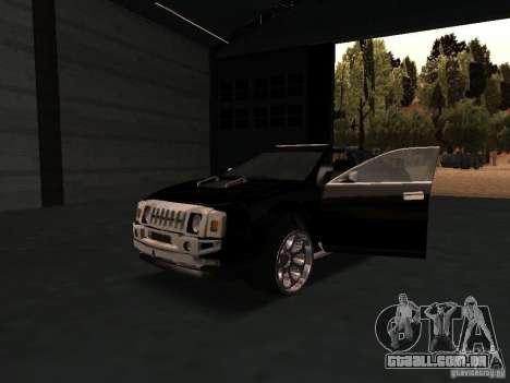 Hummer H0 para GTA San Andreas vista interior