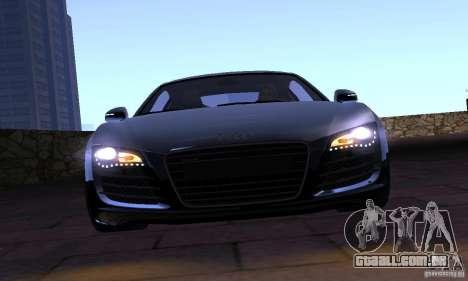 Audi R8 4.2 FSI para GTA San Andreas vista traseira