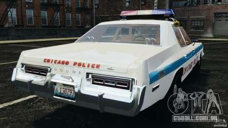 Dodge Monaco 1974 Police v1.0 [ELS] para GTA 4 traseira esquerda vista