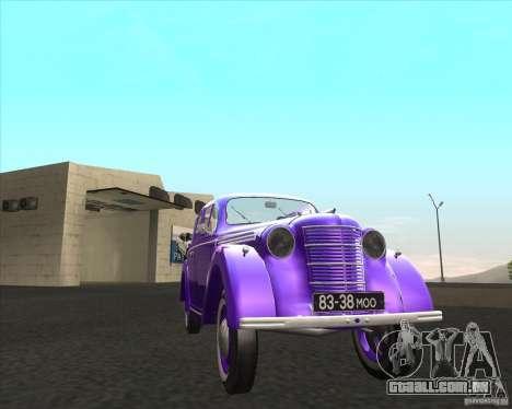 AZLK 401 para GTA San Andreas traseira esquerda vista