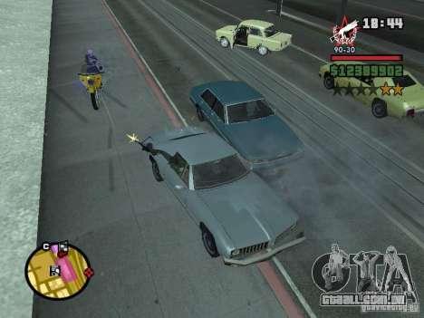 Um guarda de segurança para o CJ com miniganom para GTA San Andreas terceira tela