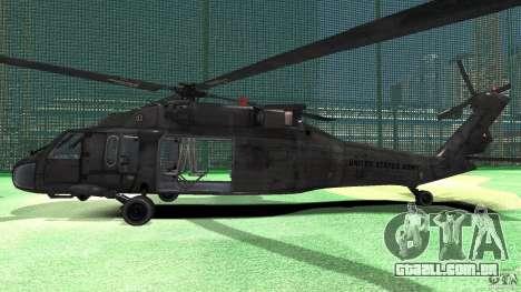 Sikorsky UH-60 Black Hawk para GTA 4 traseira esquerda vista