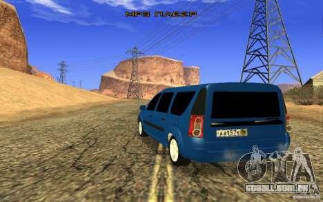 Largo da Lada para GTA San Andreas esquerda vista