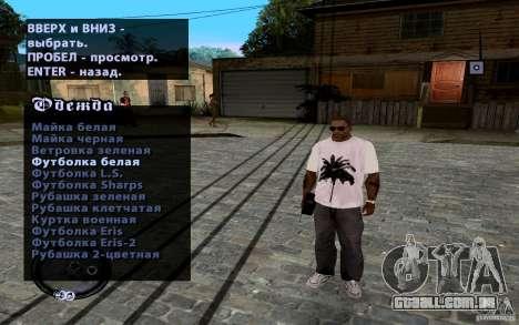 CJ novo para GTA San Andreas por diante tela
