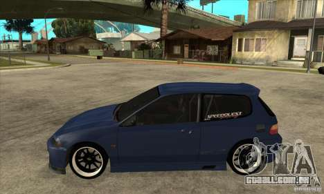 Honda Civic EG6 para GTA San Andreas esquerda vista
