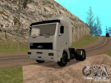 MAZ 5440 para GTA San Andreas vista direita