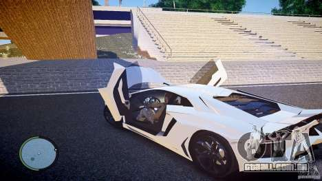 Lamborghini Aventador LP 700-4 para GTA 4 vista de volta