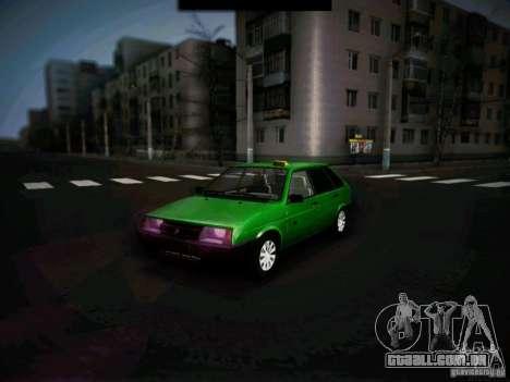 Táxi de curto-kryloe 2109 Vaz para GTA San Andreas