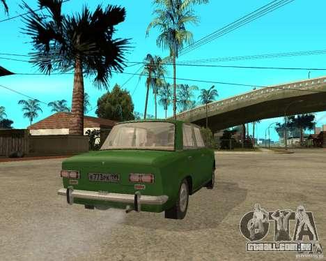 VAZ 2101 Kopek para GTA San Andreas traseira esquerda vista