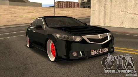 Acura TSX Doxy para GTA San Andreas vista traseira