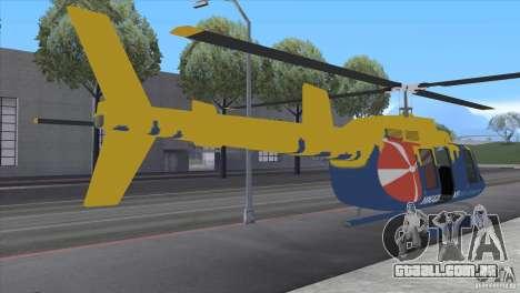 GTA IV News Maverick para GTA San Andreas traseira esquerda vista