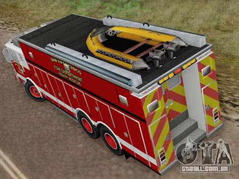 Pierce Walk-in SFFD Heavy Rescue para GTA San Andreas vista interior