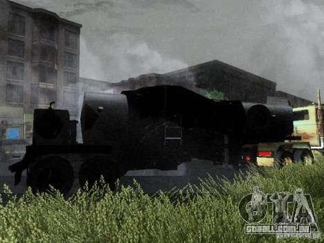 Reboque blindado combustível Mack Truck Titan para GTA San Andreas vista traseira