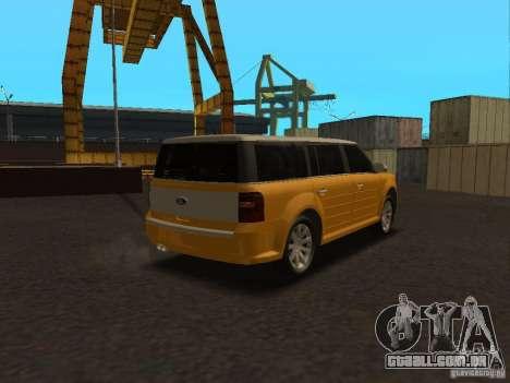 Ford Flex para GTA San Andreas esquerda vista