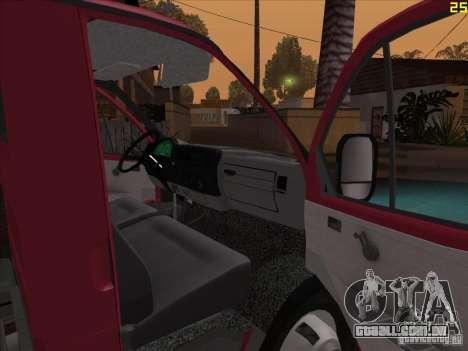 Gazela 33021 para GTA San Andreas vista traseira