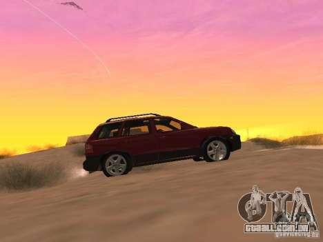 Hyundai Santa Fe Classic para GTA San Andreas esquerda vista