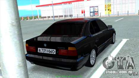 BMW E34 V1.0 para vista lateral GTA San Andreas