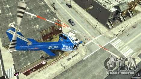 Bell412/NYPD Air Sea Rescue Helicopter para GTA 4 vista interior