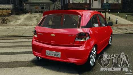Chevrolet Agile para GTA 4 traseira esquerda vista