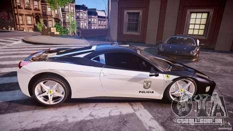 Ferrari 458 Italia - Brazilian Police [ELS] para GTA 4 vista lateral