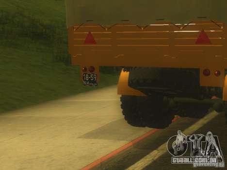Reboque MAZ 5205 para GTA San Andreas vista traseira