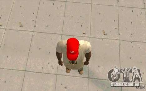 Vermelho brilhante de boné Puma para GTA San Andreas terceira tela