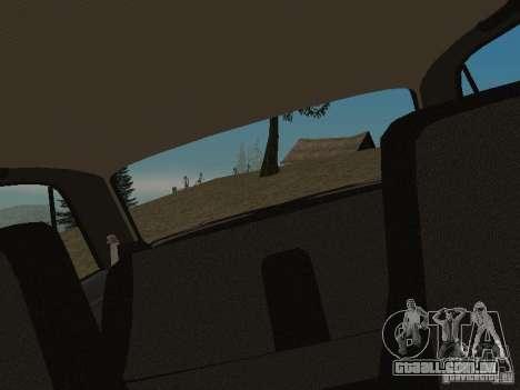 VAZ-2107 v 1.1 para GTA San Andreas vista traseira