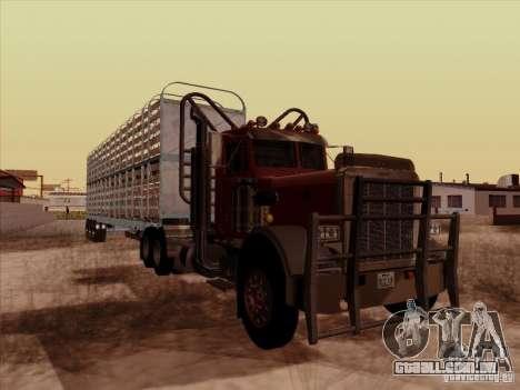 Peterbilt 359 Day Cab para GTA San Andreas traseira esquerda vista